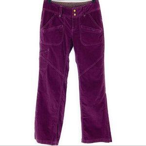 Athleta Purple Velvet Cargo Pants